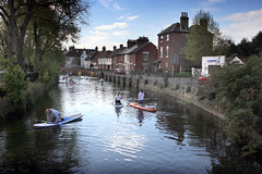 The Great Stour, by the Causeway and North Lane, Canterbury, canoes (Jim_Higham) Tags: thegreatstour bythecausewayandnorthlane canterbury canoes