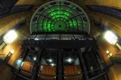 Cyclops (Bilderwense) Tags: hamburg hansestadt hafencity hafen port welovehh ilovehh architektur architecture germany europe europa deutschland symmetry symmetrie symmetrical nikon nikkor nikond5000 green elbtunnel fisheye alterelbtunnel historic city old