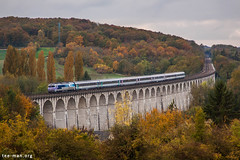 Standing strong (VTZK) Tags: sncf trein cc72000 business train railscape railscapes passenger transport transportation rail railroad sustainable zug bahn mobility photo image spoorweg chemin de fer spoorlijn paris belfort ligne 4 intercités autumn color yellow leaves locomotive engine viaduct