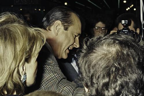 Mr JACQUES CHIRAC au SIA 1990-10-cliche Jean Weber