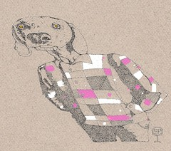 Tikissä (neppanen) Tags: sampen discounterintelligence art taide piirustus drawing koira dog weimaraner weimarinseisoja portrait ink muste acrylic ac akryyli