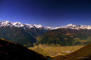 snow-capped Ortler Alps (Italy)