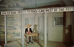 Judge Roy Bean, Historical West Wax Museum, Colorado Springs, Colorado (SwellMap) Tags: postcard vintage retro pc chrome 50s 60s sixties fifties roadside midcentury populuxe atomicage nostalgia americana advertising coldwar suburbia consumer babyboomer kitsch spaceage design style googie architecture waxmuseum effigy figurine