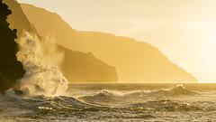 /splaSH/ IX (IanLudwig) Tags: bluebluetravel vsco sony ilce7rm2 sonyilce7rm2 a7rii sonya7rii sonyalpha sonyalphaa7rii hawaii kauai surf beach beaches aloha clouds reef sand napalicoast sunset waves canon70200mmf28lisusmii