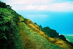 F1000005 (nautical2k) Tags: olympusom10 kodakelitechrome200 kauai hawaii kokee state park waimea canyon kalalau valley xpro