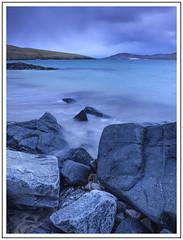 As darkness falls (adam_pierz) Tags: isleofharris harris outerhebrides nikond600 evening sea clouds coast scotland blue rocks