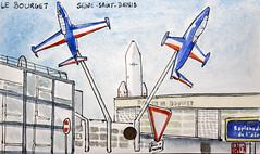 Le Tour de France virtuel - 93 - Seine-Saint-Denis (chando*) Tags: aquarelle watercolor sketch croquis france