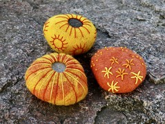 Felted and embroidered rocks (Liiolii) Tags: felted embroidered handmade