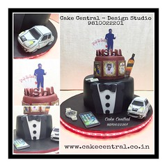 Black Suit Cake #blacksuit # #designercake #delhi #fondant #themed #favorite #cake #things #noida #gurgaon #newdelhi #southdelhi (Cake Central-Design Studio) Tags: firstbrthday designercake delhi fondant themed kidscake