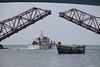 Pamban Bridge, Rameswaram (RossCunningham183) Tags: pambanbridge rameswaram india southindia tamilnadu fisherman boats birds coastgaurd railbridge rail bridge patrolboat