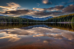 Lost Lake Sunset (PIERRE LECLERC PHOTO) Tags: lostlake sunset whistler bc britishcolumbia canada water lake reflection sky clouds mountains nature landscape canadianlandscapes adventure pierreleclercphotography canon5dsr travel