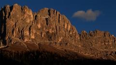 Rosengarten _MG_4499m1(1) (maxo1965) Tags: rosengarten enrosadira alpenglow dolomites südtirol karersee catinaccio sunset cloud autumn
