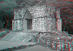 Ek Balam MEX - Entrance Arch Anaglyph 3d
