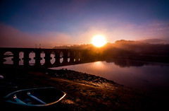 Morning Magic. Explored 04/05/17 #108. (Nigel Vaux) Tags: misty fog mornings sunrise bridge reflections raw nigelvaux canon550d 1018stm may bestshotoftheday beautiful rivers 2017 veryflickr explore light soft goldenhour