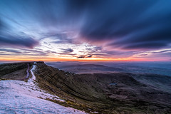 Beautiful clouds at Sunset (karlmccarthy1969) Tags: breconbeacons clouds mountain wales snow penyfan wideangle
