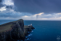Sentinel (tristantinn) Tags: 2016 autumn bluehour britain dramatic explore highland highlands landscape lighthouse mood moody mountains nature neistpoint outdoor scotland squall storm uk winter
