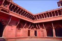 traveler : Labor Organized (tofu_minx) Tags: agra redfort india asia architecture fort stone red unesco