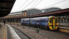 158789 York 17/05/2017 (Flash_3939) Tags: 158789 scotrail class158 dmu dieselmultipleunit saltire livery ecs overhaul york yrk station rain rail railway train uk may 2017