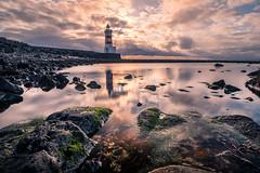 Gardur lighthouse - Iceland - Travel photography (Giuseppe Milo (www.pixael.com)) Tags: lighthouse landscape sunset gardur nature reflection rocks outdoor iceland water travel sea garður southernpeninsularegion is onsale