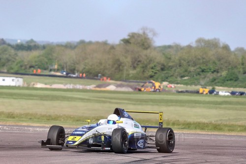 Harry Webb in British Formula Four at Thruxton, May 2017