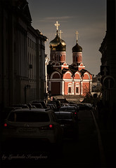 Church of St. George the Victorious (Lyutik966) Tags: church temple architecture building dome cross religion orthodoxy russia moscow street car