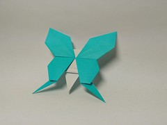 Butterfly by Xiaodai(小呆) (Zephyr Liu) Tags: origami kami paper butterfly xiaodai