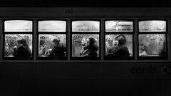 The desire to come home (Hendrik Lohmann) Tags: street streetphotography strase strassenfotografie lisboa portugal people nightshot night rain tram travel nikon hendriklohmann