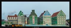 Toyish Zaandam (Ilan Shacham) Tags: zaandam architecture view scenic colorful abstract fineart fineartphotography building geometry amsterdam netherlands zaanstad lego green toy contemporary