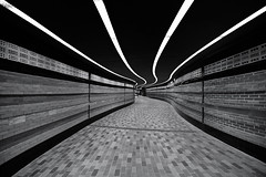 Square Victoria (roken-roliko) Tags: squarevictoria undergroundpath subway metro transportation blackandwhite fineart interior architecture architectureinterior cityandarchitecture rolandshainidze montreal quebec canada ceiling modern brick abstract simple minimalist empty emptyspace nopeople withoutpeople