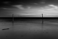 Beach Nettings (aT0Mx) Tags: pentaphotography pentalens pentax provincialpark filter k5 smc silky water beach blackwhite bnw blackandwhite ranger nd16 nd8 nature net presquile