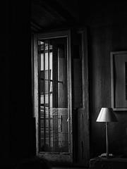 Frames (Marcelo Garcia Ferreyra) Tags: frames bar nikon coolpix e8700 dlass lamp table marcos glass vidrio cristal rejas fence lampara tabla silver pro efex blackandwhite bnw blackwhite contrast
