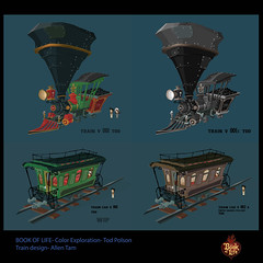 Book Of Life- Train Color (Tod Polson) Tags: bookoflife color conceptdesign colorscript featurefilmdevelopment