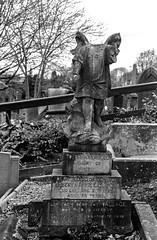 Angel (Richie Rue) Tags: angel headless grave graveyard cemetery film ilford hp5 analogue analog olympus tetenalultrafin monochrome mono blackandwhite broken damaged yorkshire bradford thornton chapel
