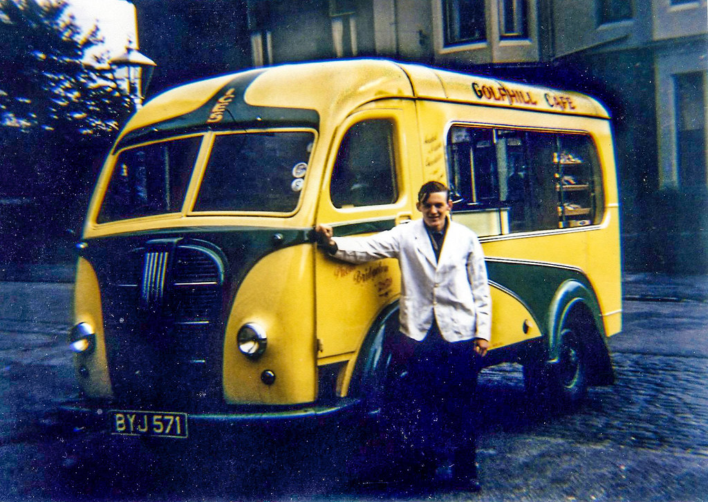 Bert Ginn (Bert) and his 1st ice cream van 1956