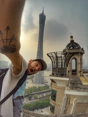 Canton Tower (Alexandr Tikki) Tags: roof tower china guangzhou wow amazing tikki leveltravel travel world art awesome alexandrtikki architecture best building creative crazy cool city colorful dream explore fantastic great goprohero4 gopro hero idea impressive inspire light moment man magic new modern moments original outdoor perfect portrait place panorama sky street trip top view