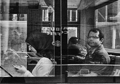 (daveson47) Tags: mono bw blackandwhite bus reflection candid window street streetphoto streetphotography ricoh ricohgrd grd city urban