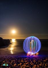 ENCERRADO (Fran Ramos.) Tags: light painting naturaleza nocturnas noche luna playa cartagena calblanque frascoramos luces