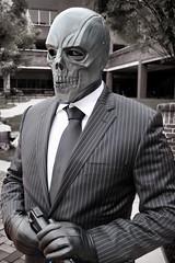 Black Mask (greyloch) Tags: zenkaikon cosplay topazlabs costume dccomics villain blackmask gothamcity 2017 canonrebelt6s ttlflash magmod