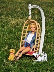 Happy Mothers day 🐶 🐈 🐁 (flores272) Tags: toy dog toydog toys doll dolls barbiedoll barbie barbiefurniture outdoors baylee eggchair barbiedog barbieclothing dollclothing barbiebobbinbowwow hannahmontana