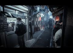 Omoide Yokocho (ScottSimPhotography) Tags: shinjuku evening night dark underground tokyo alley scifi bladerunner asia asian japanese nightlife 思い出横丁