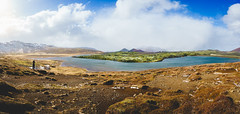 Lava field (miguel_lorente) Tags: iceland sonyalpha landscape water panorama clouds sony lava lake pano field
