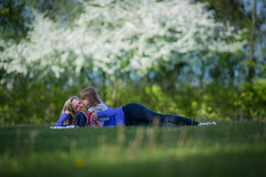 Spring Kiss (Philocycler) Tags: spring grass bokeh blossoms green happy kiss motherandchild girl crabtreenaturepreserve canon canon5dmarkiii