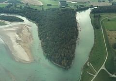 Skagit River oxbow (Sam Beebe) Tags: aerial skagitriver panorama lineorama washington oxbow