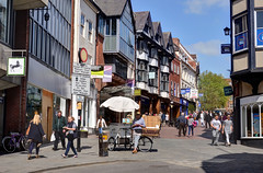 Shrewsbury town centre (Baz Richardson (now away until 27 May)) Tags: shropshire shrewsbury pridehillshrewsbury streetscenes towncentres shops