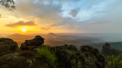 after the storm (powerofadventure) Tags: sunset saxony saxonswitzerland gohrisch papststein labe elbe dresden mountains colors simply lights orange powerofadenture