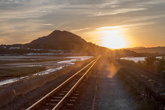 Sunset porthmadog Railway (Happy snappy nature) Tags: porthmadog sunset railway dusty tracks beautiful landscape wales outdoors