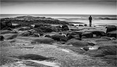 Seahouses . (wayman2011) Tags: fujifilmxt10 lightroom wayman2011 bw mono coast seascapes seaside people rocks water longexposures bw110 northumberland seahouses uk