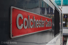 90015's nameplate (Cosmo's Train & Gig Photos) Tags: aga greateranglia class90 90015 colchestercastle lst londonliverpoolstreet liverpoolstreet london geml greateasternmainline nameplate