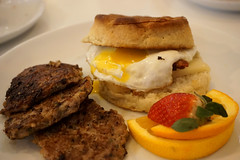 Egg Sandwich at Emma's Country Kitchen (deeeelish) Tags: biscuit egg breakfast sausage