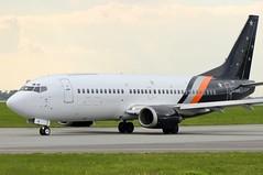 Titan Airways B737-300QC G-ZAPW taxiing at WAW/EPWA (Jaws300) Tags: airways titan titanairways gzapw quickchange b737300qc b733 b737 boeing epwa waw airport chopin poland polska warszawa warsaw
